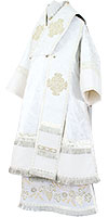 Bishop vestments - rayon brocade S3 (white-silver)