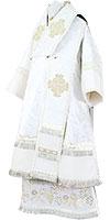 Bishop vestments - rayon brocade S3 (white-silver)