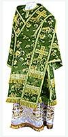 Bishop vestments - rayon Chinese brocade (green-gold)