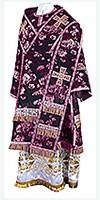 Bishop vestments - rayon Chinese brocade (violet-silver)
