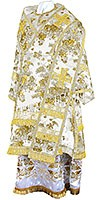 Bishop vestments - rayon Chinese brocade (white-gold)