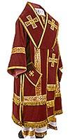 Bishop vestments - natural German velvet (claret-gold)