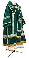 Bishop vestments - natural German velvet (green-gold)