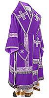 Bishop vestments - natural German velvet (violet-silver)