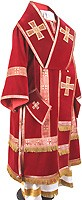 Bishop vestments - natural German velvet (red-gold)