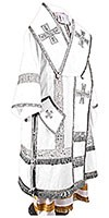 Bishop vestments - natural German velvet (white-silver)