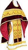 Russian Priest vestments - metallic brocade B (yellow-claret-gold)