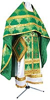 Russian Priest vestments - metallic brocade B (green-gold)
