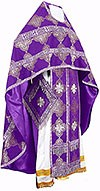 Russian Priest vestments - metallic brocade B (violet-silver)