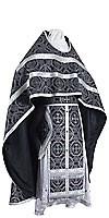 Russian Priest vestments - metallic brocade B (black-silver)