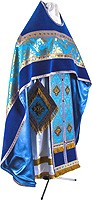 Russian Priest vestments - metallic brocade BG1 (blue-gold)