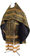 Russian Priest vestments - metallic brocade BG1 (black-gold)