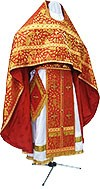 Russian Priest vestments - metallic brocade BG1 (red-gold)