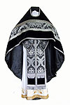 Russian Priest vestments - metallic brocade BG1 (black-silver)
