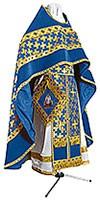 Russian Priest vestments - metallic brocade BG2 (blue-gold)