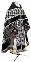 Russian Priest vestments - metallic brocade BG2 (black-silver)