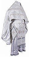 Russian Priest vestments - metallic brocade BG2 (white-silver)