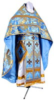Russian Priest vestments - metallic brocade BG3 (blue-gold)