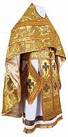 Russian Priest vestments - metallic brocade BG3 (yellow-claret-gold)