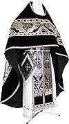 Russian Priest vestments - metallic brocade BG3 (black-silver)