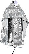 Russian Priest vestments - metallic brocade BG3 (white-silver)