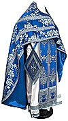 Russian Priest vestments - metallic brocade BG4 (blue-silver)