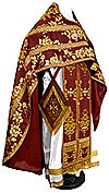 Russian Priest vestments - metallic brocade BG4 (claret-gold)
