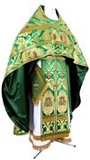 Russian Priest vestments - metallic brocade BG4 (green-gold)