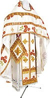 Russian Priest vestments - metallic brocade BG4 (white-gold)