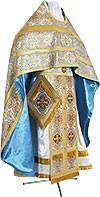 Russian Priest vestments - metallic brocade BG5 (blue-gold)