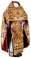 Russian Priest vestments - metallic brocade BG5 (claret-gold)