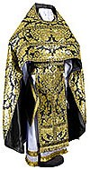 Russian Priest vestments - metallic brocade BG5 (black-gold)