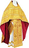 Russian Priest vestments - metallic brocade BG5 (yellow-gold)