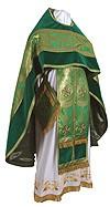 Russian Priest vestments - metallic brocade BG5 (green-gold)