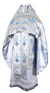 Russian Priest vestments - metallic brocade BG5 (white-silver)
