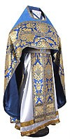 Russian Priest vestments - metallic brocade BG6 (blue-gold)