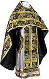 Russian Priest vestments - metallic brocade BG6 (black-gold)