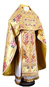 Russian Priest vestments - metallic brocade BG6 (yellow-gold)