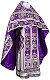 Russian Priest vestments - metallic brocade BG6 (violet-silver)