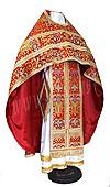 Russian Priest vestments - metallic brocade BG6 (red-gold)
