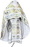 Russian Priest vestments - metallic brocade BG6 (white-silver)