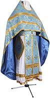 Russian Priest vestments - rayon brocade S2 (blue-gold)