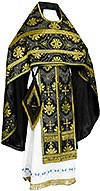 Russian Priest vestments - rayon brocade S2 (black-gold)