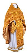 Russian Priest vestments - rayon brocade S2 (yellow-gold)