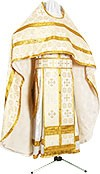 Russian Priest vestments - rayon brocade S2 (white-gold)
