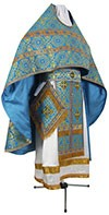 Russian Priest vestments - rayon brocade S3 (blue-gold)