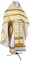 Russian Priest vestments - rayon brocade S3 (white-gold)