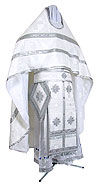 Russian Priest vestments - rayon brocade S3 (white-silver)