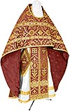 Russian Priest vestments - rayon brocade S4 (claret-gold)