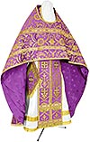 Russian Priest vestments - rayon brocade S4 (violet-gold)